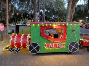 Lakes at Leesburg Railroad train car golf cart