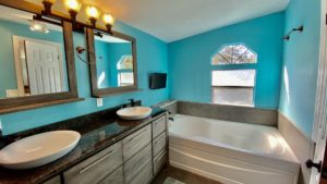 double wide mobile home master bathroom